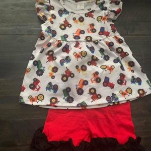 Other - truck top and ruffle capris
